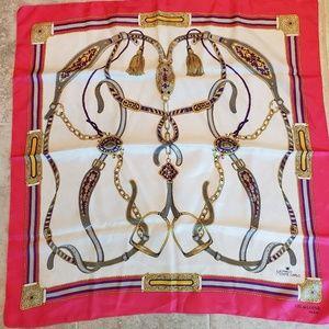 🌵Vintage Gil de Losne  equestrian scarf Paris